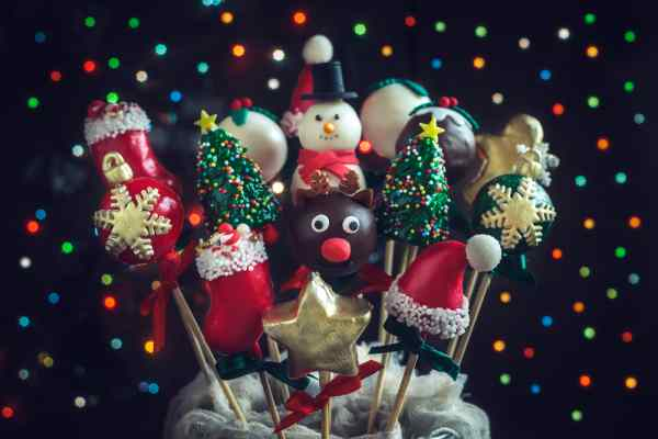 chocolate ornaments Christmas tree