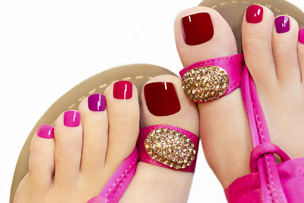 glamour toe nail designs
