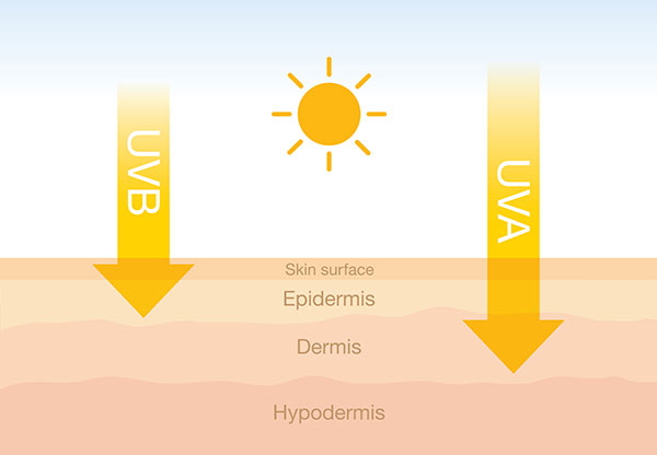 uv radiation uv a, b,