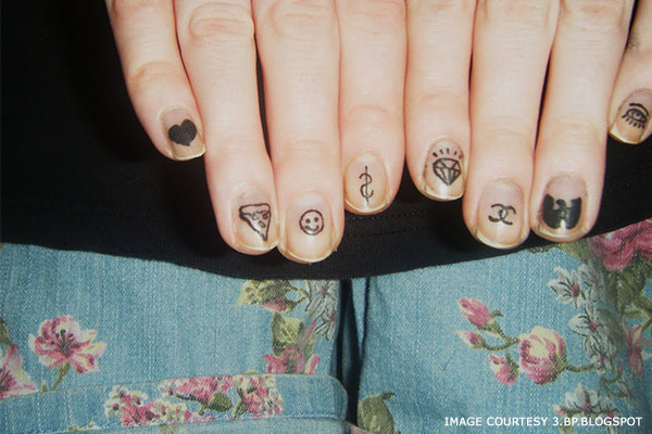 Fingernail Tattoo Ideas
